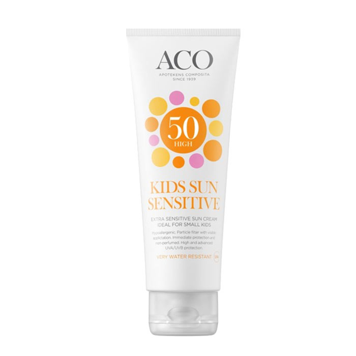 ACO Kids Sun Sensitive Sun Cream Spf 50 125ml