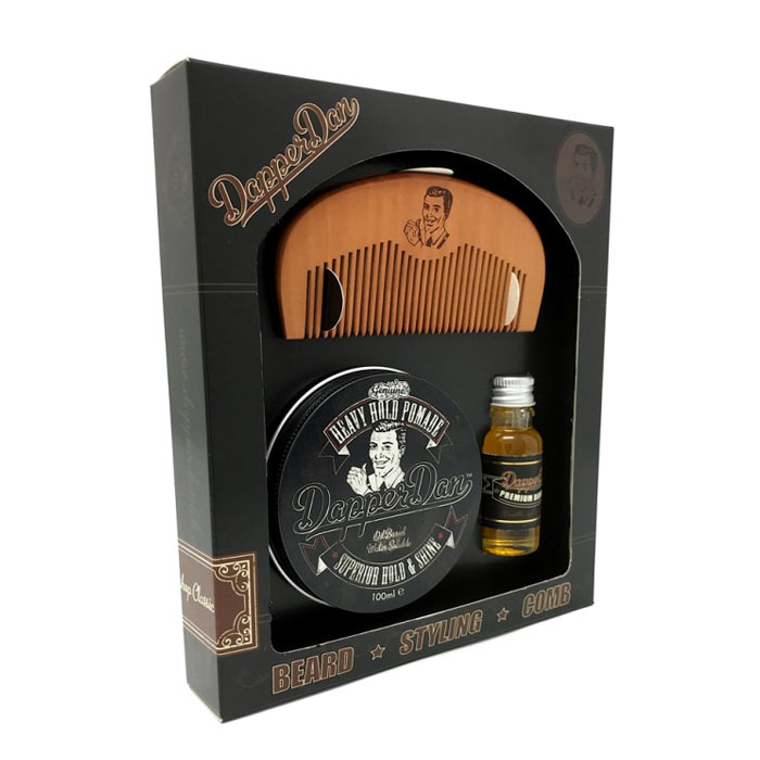 Dapper Dan Hairy Man Combo Gift Set - Heavy Hold Pomade